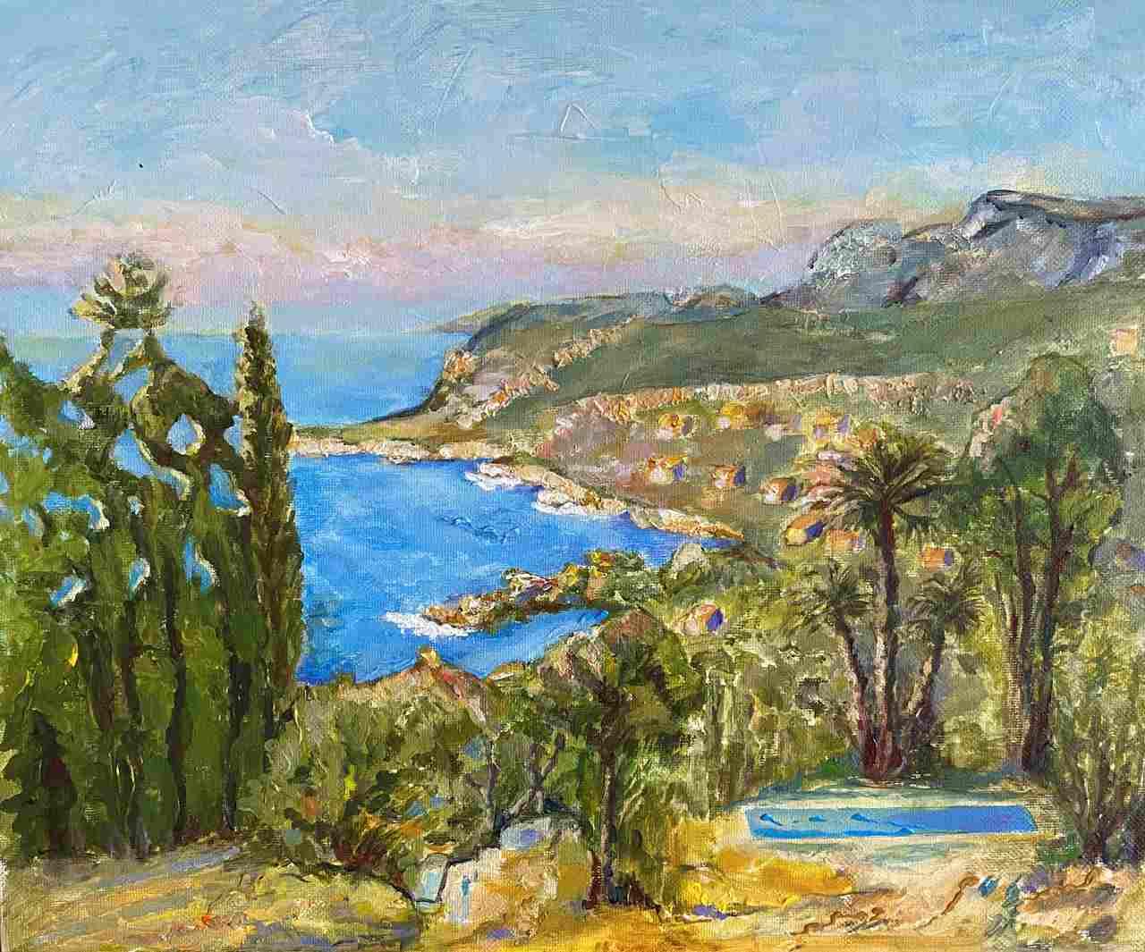 Anna-Andraczke-Cassis , Côte d'Azur-akryl-33X41