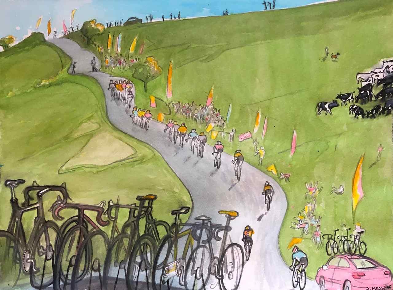 Andre-Mrowiec - Tour de France - akwarela  - 60x40