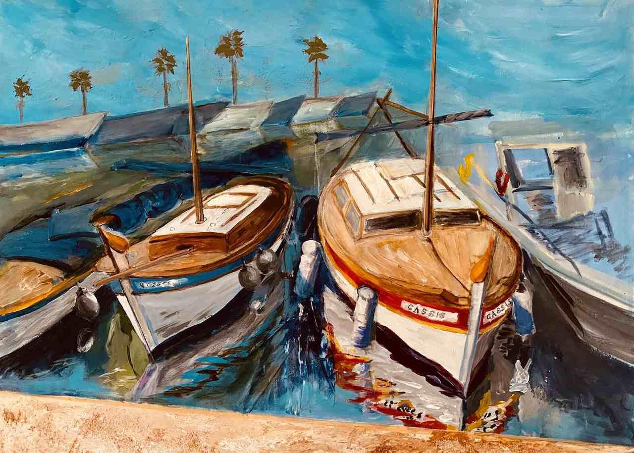 Anna-Andraczka-Cassis , Côte d'Azur-akryl-33x41