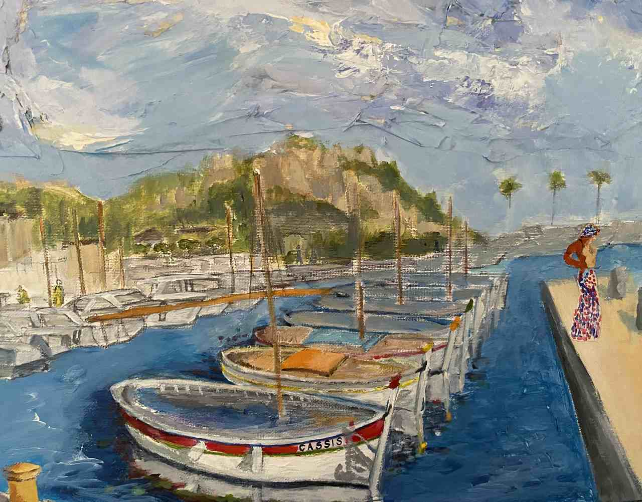 Anna-Andraczke - Cassis , Côte d'Azur - akryl-33X41