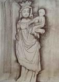 Rzeźba z Notre Dame de Paris - Ryszarda Łucja Jagielska - praca przygotowana z myślą o wystawie NOTRE DAME DE PARIS – 85ème exposition internationale AAA Ligne et Couleur w Paryżu