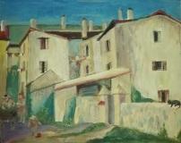 Krajobraz miejski w/g  M. Samlickiego - olej