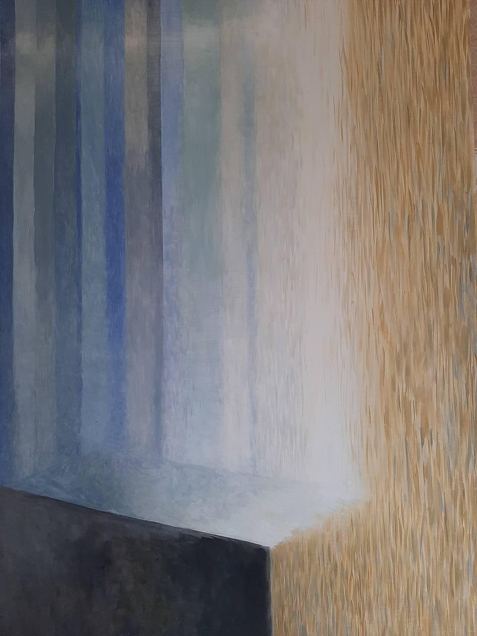 """Edyta-Skowrońska- """"Rzeka w mieście 1"""", olej, 70 x 100 cm,"""