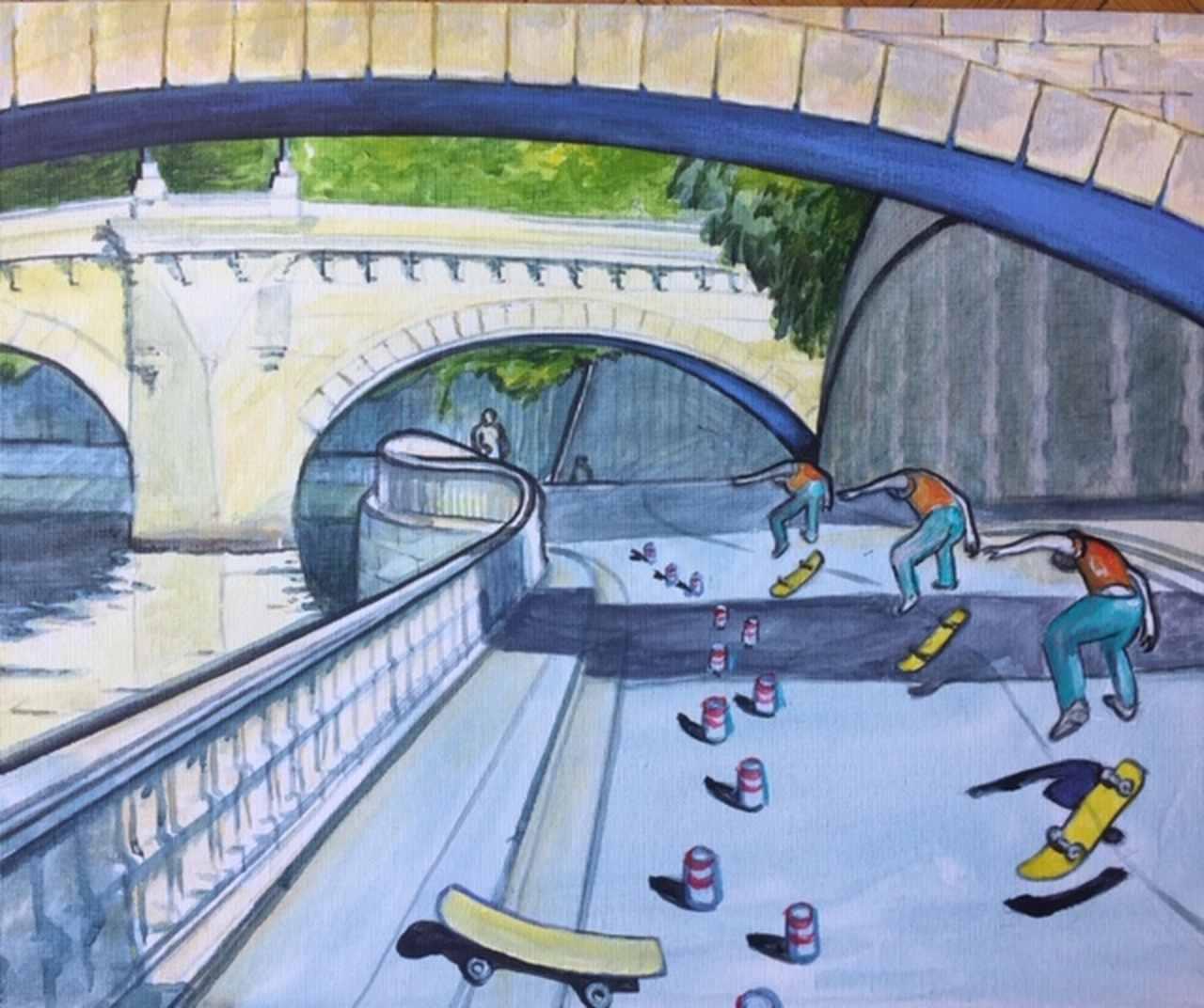 """Andrzej-Mrowiec-""""Skateboard""""-30-x-40-cm-"""