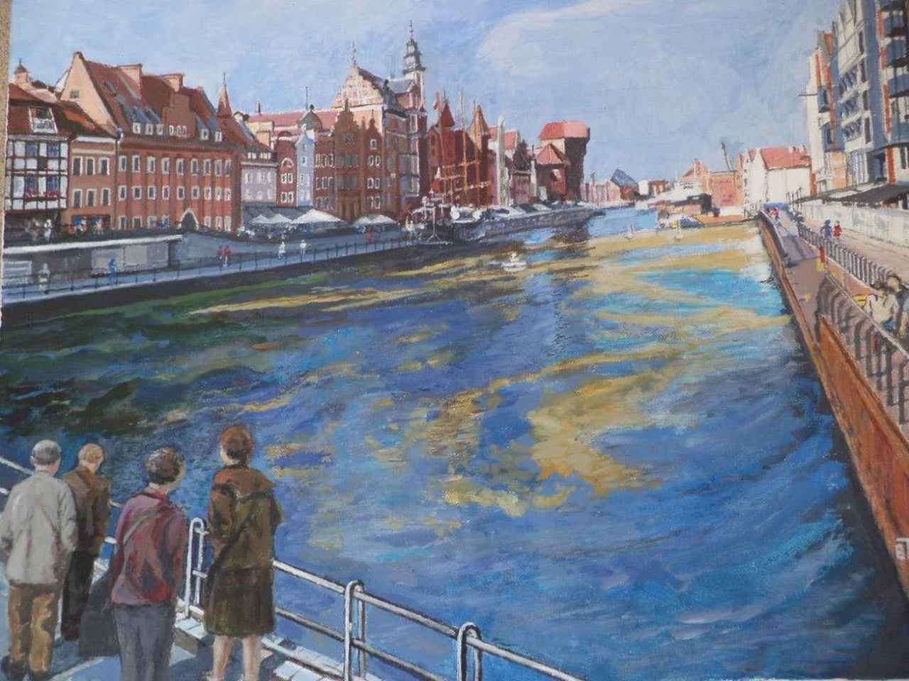 Barbara Targowska - Gdańsk - Akryl - 60x50
