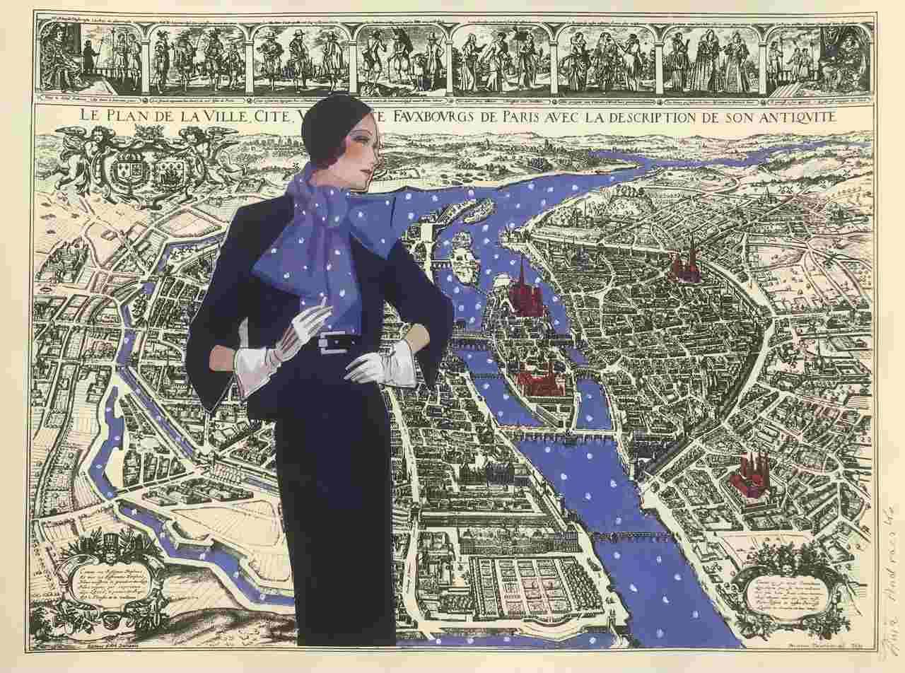 Anna Andraczke - Rzeka w mieście - Akryl