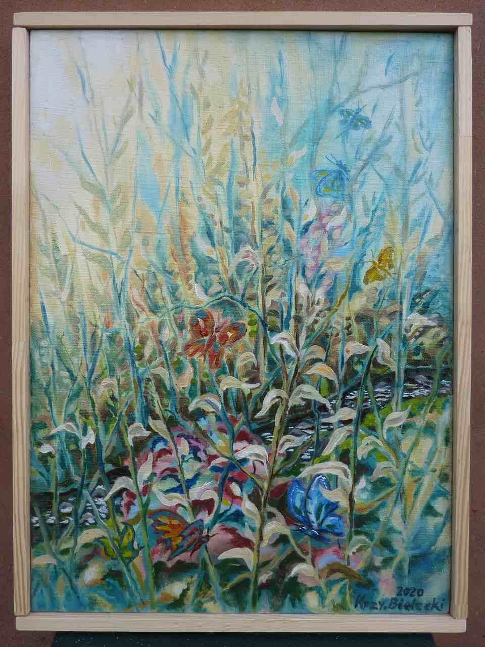 """Krzysztof Bielecki -  """"Wiosenna fantazja"""" -  olej na płótnie -  36 x 48"""