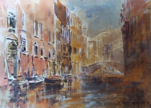 Włodzimierz-Karczmarzyk-Wenecja-Grand-Canal-akryl-karton-30-x-42-cm