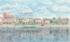 Ewa Anna  Wasiutyńska - Panorama  Torunia - Akwarela