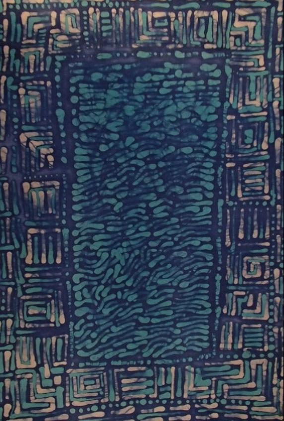 Ryszarda - Łucja -  Jagielska -  WĘDRÓWKI WYOBRAŹNI  - batik - 70X50