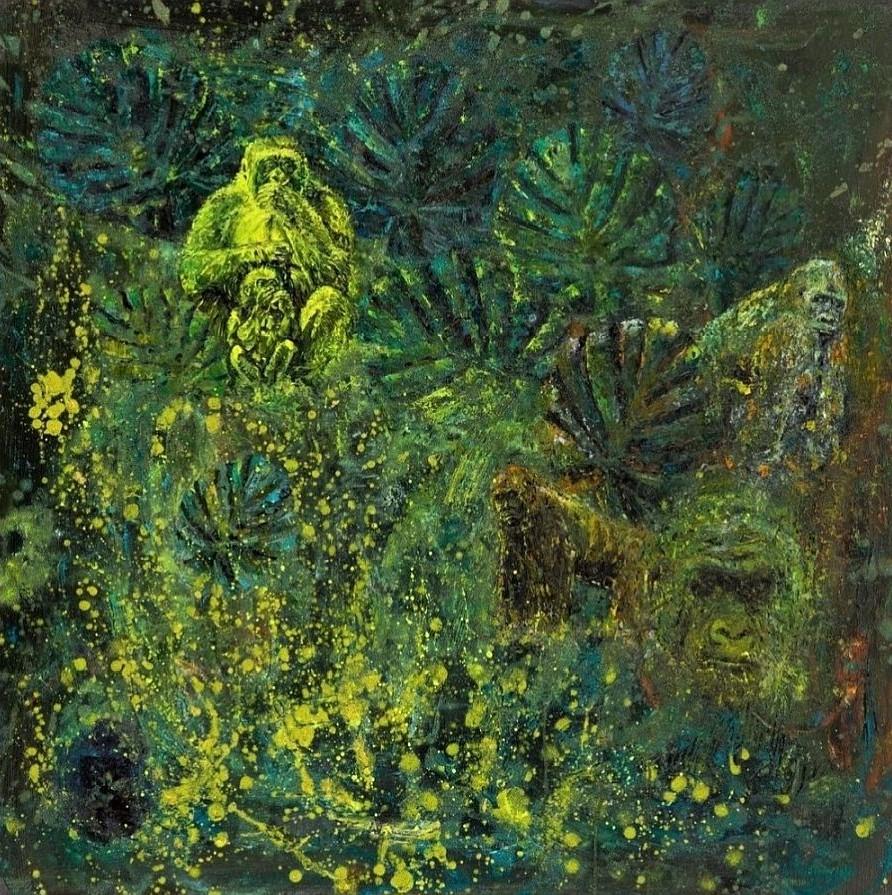 Adam-Piotr-Rutkowski- Z cyklu WILDLIFE- W-7- olej-na-płótnie-100x100
