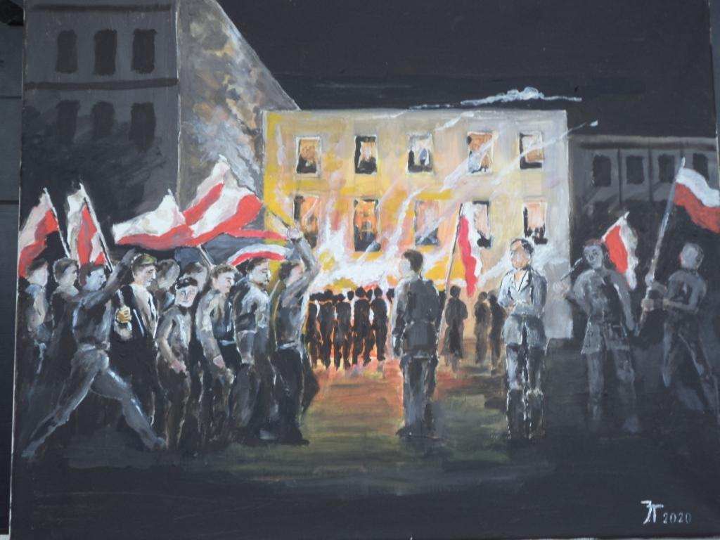 Janusz Targowski - DZIEŃ - NIEPODLEGŁOŚCI-akryl-80x60