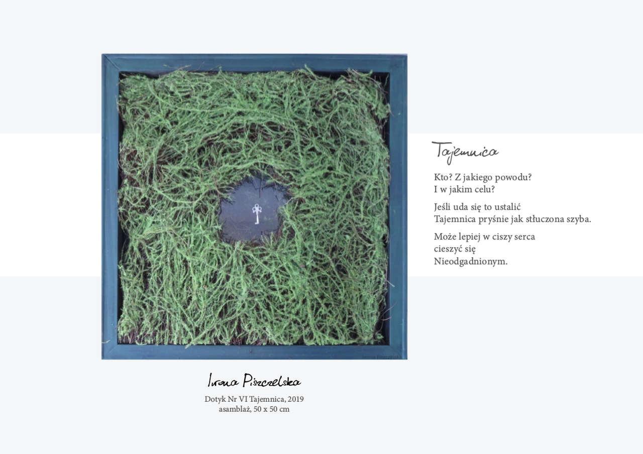 Iwona-Piiszczelska-TAJEMNICA-asamblaż-50x50