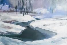 Andrzej-Strzelczyk-ZIMA-akryl-na-płótnie-50x70