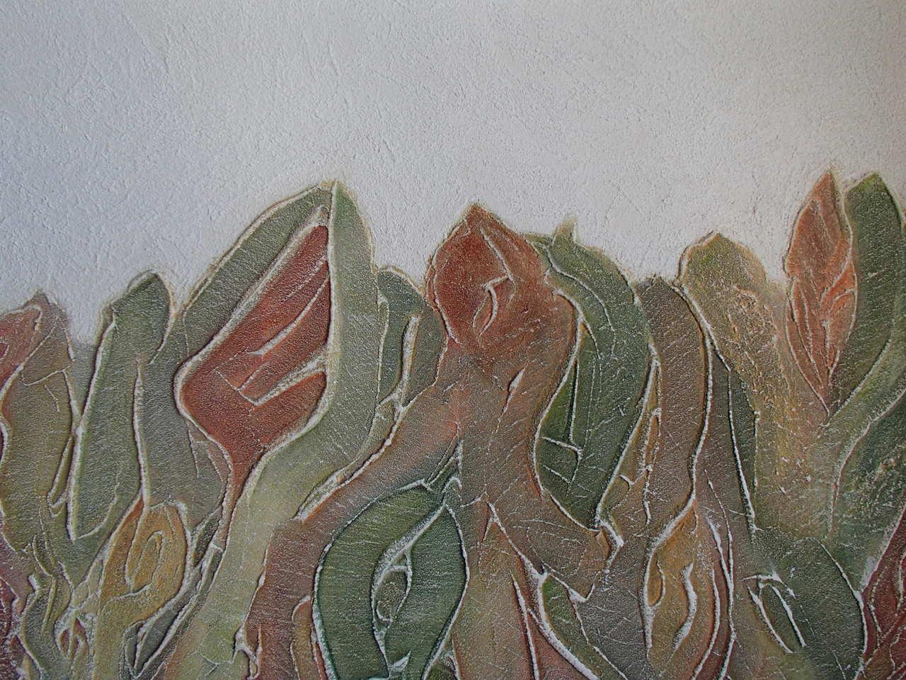 Ryszarda Łucja Jagielska ŁĄKI  ROZTAŃCZONE  WIATREM detal akryl 100x70