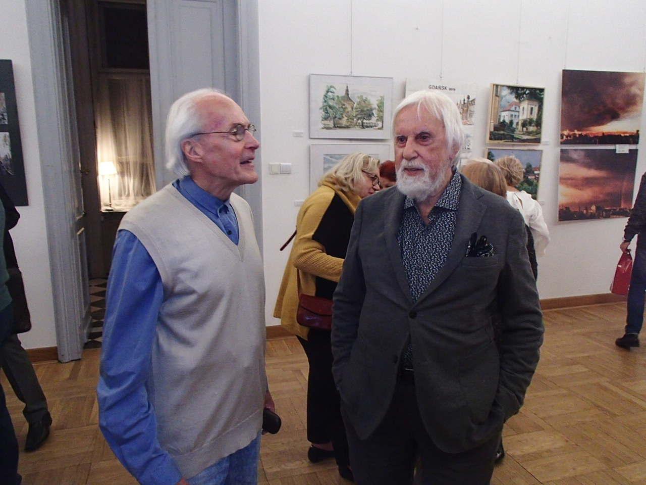 Jan Fiszer i Włodzimierz Karczmarzyk - SALON JESIENNY 2019 - Sala Lustrzana - Pałac Zamoyskich